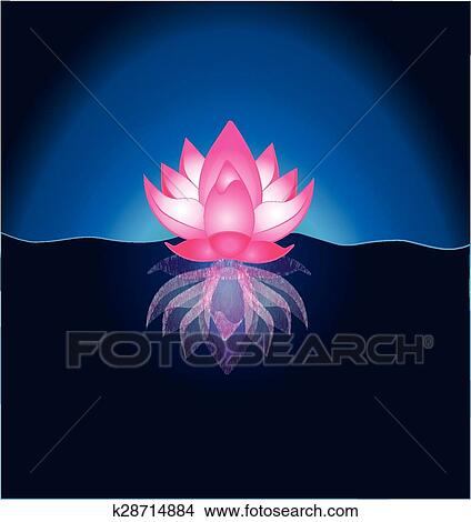 clipart of pink lotus flower template k28714884 search clip art