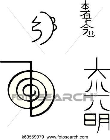 reiki, symbolen clipart | k63559979 | fotosearch