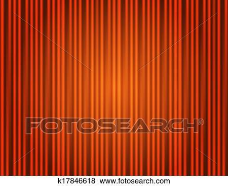 Clipart Rideau Orange Ferme A Lumiere Taches K17846618