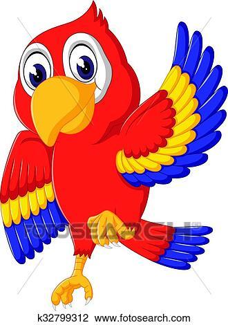 Clipart carino pappagallo cartone animato k32799312 - Animale cartone animato immagini gratis ...