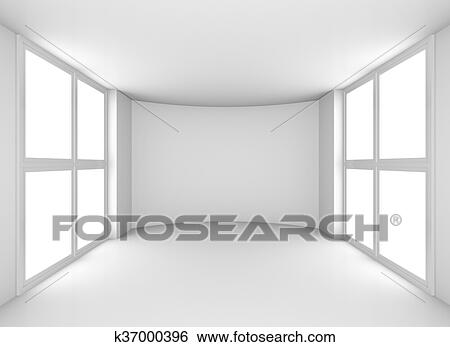 Magnificent Exhibit Empty White Showroom With Windows Stock Illustration Download Free Architecture Designs Scobabritishbridgeorg