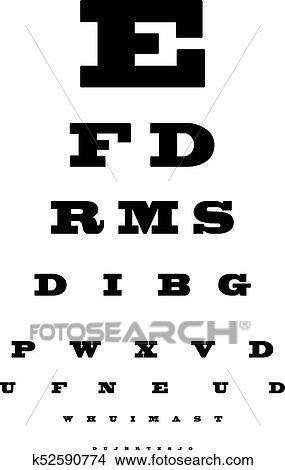 Clipart Of Eye Test Chart K52590774 Search Clip Art Illustration