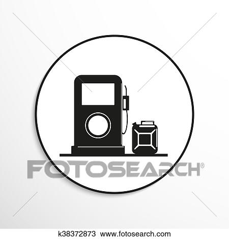 Drawing Of Gas Station Symbol K38372873 Search Clipart