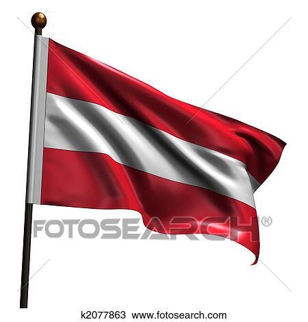 Høj Dagsordenen østrigsk Flag Tegning K2077863