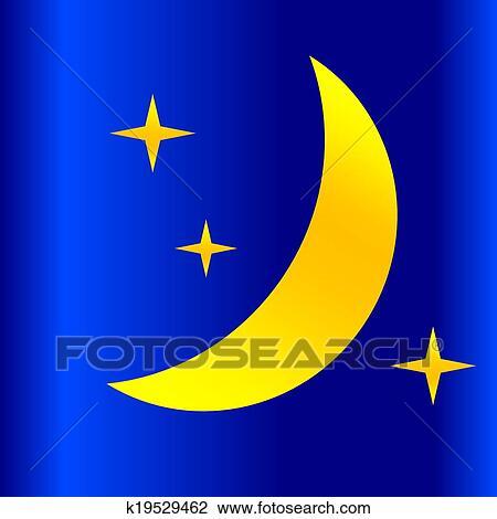 Nuit Lune Dessin K19529462 Fotosearch