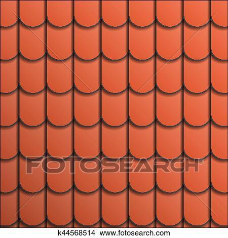 Pattern terracotta roof tile  Clipart
