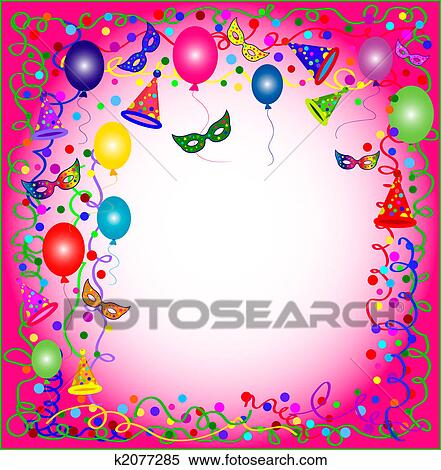 stock illustration of pink party and carnival background k2077285