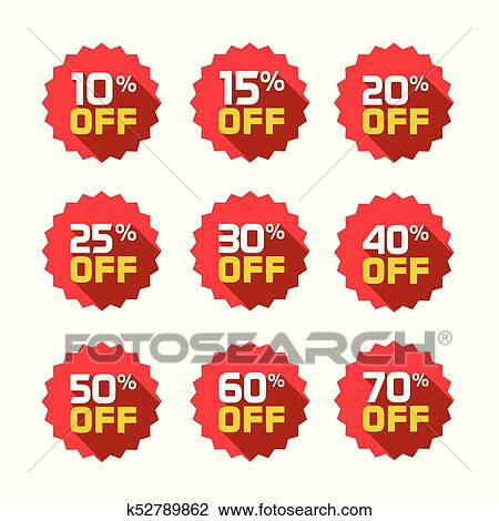 clipart of sale tags set vector badges template 10 off 15 20 25
