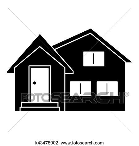 clipart of silhouette housewarming facade exterior design k43478002 rh fotosearch com housewarming clipart pictures housewarming clipart black and white