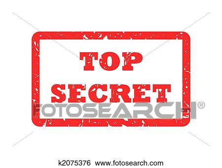 Top Secret Red Stamp Isolated On White Background