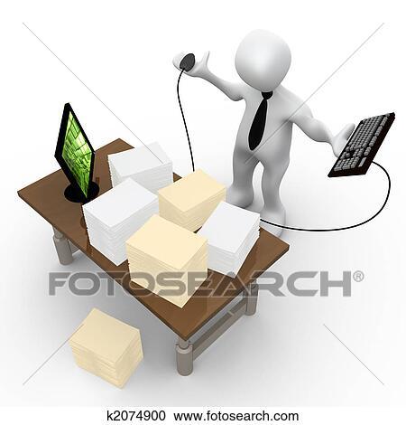 Disordine In Ufficio.Ufficio Lavoro Ufficio Clipart