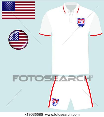 1b8eed665ee Clipart - USA Football Soccer Jersey. Fotosearch