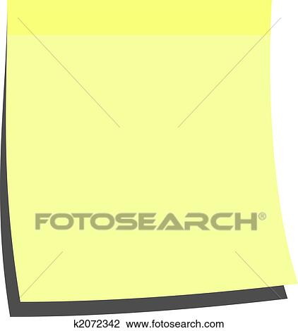 Blank Memo | Clip Art Of Yellow Memo Stick K2072342 Search Clipart