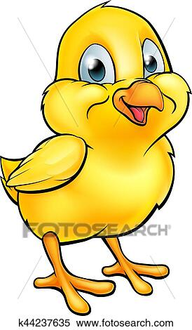 clipart of cartoon easter chick k44237635 search clip art rh fotosearch com cute easter chick clipart