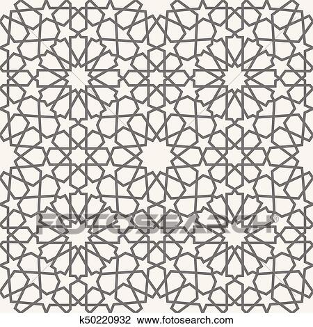 Islamic Pattern Seamless Arabic Geometric Pattern East