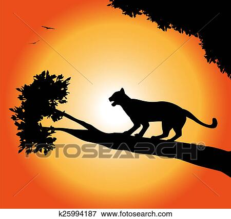 stock illustration of panther silhouette k25994187 search eps