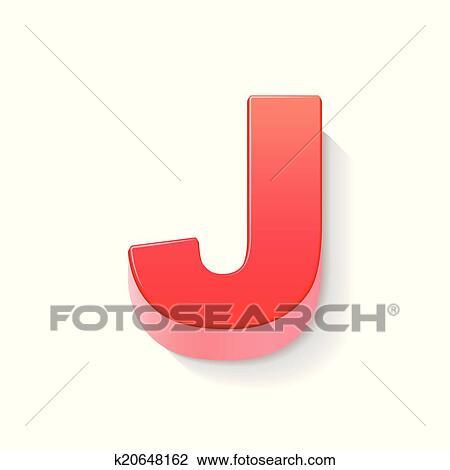 Clipart Of 3d Red Letter J K20648162 Search Clip Art Illustration