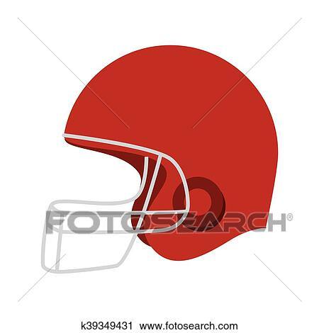 Casque football am ricain ic ne vecteur clipart k39349431 fotosearch - Dessin football americain ...