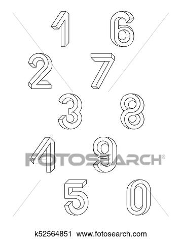 Impossible Geometry numbers Clipart