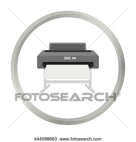 large format printer icon in monochrome style isolated on white background typography symbol stock vector illustration clipart k44598663 fotosearch fotosearch