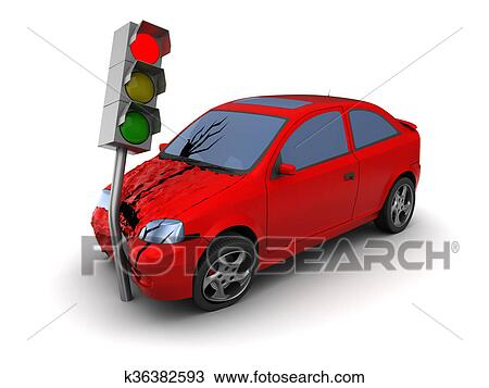 Drawing of car crash k36382593 - Search Clipart, Illustration, Fine ...