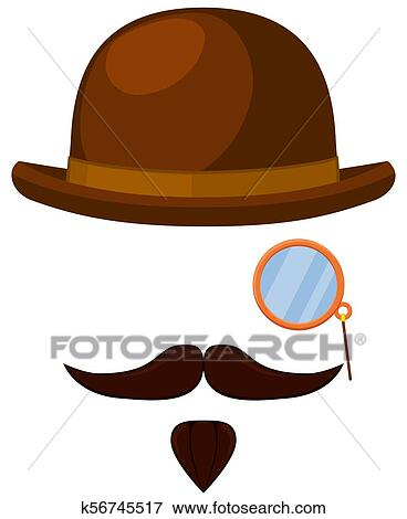 f44ad3b3f344c Clip Art of Colorful cartoon hipster avatar elements k56745517 ...