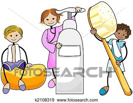 Colección de ilustraciones - cuidado cuerpo, niños k2108319 - Buscar ...