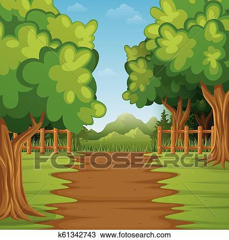 The nature forest landscape - Download Free Vectors, Clipart Graphics &  Vector Art