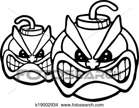 Clipart Of Two Angry Bombs K19002934