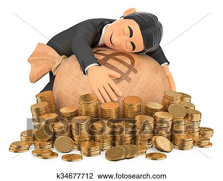 Rich man with money