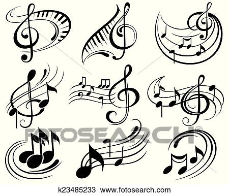 Music Notes Clipart K23485233
