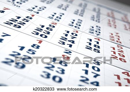Calendario Con Numero Giorni.Fogli Di Calendario Muro Con Il Numero Di Giorni Archivio Immagini