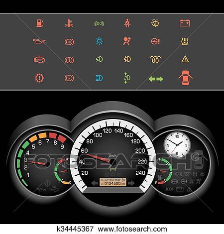 clipart voiture compteur vitesse nuit panneau k34445367 recherchez des cliparts des. Black Bedroom Furniture Sets. Home Design Ideas