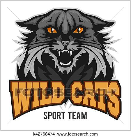 Wildcat Mascot Sport Team Clipart K42768474 Fotosearch