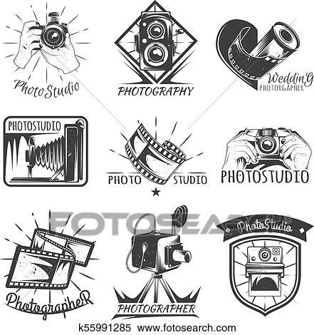 Camera Photography Vintage Photo Logo Retro Concept Clipart K55991285 Fotosearch