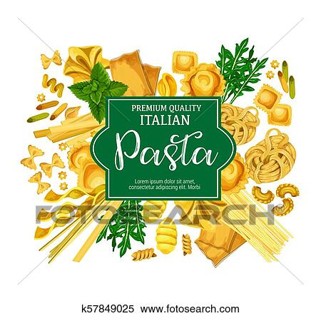 Italian Pasta Poster With Macaroni Food And Herb Clipart K57849025 Fotosearch,Domesticated Fox For Sale