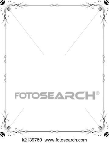 Clipart elegante rahmen k2139760 suche clip art for Elegante wandbilder