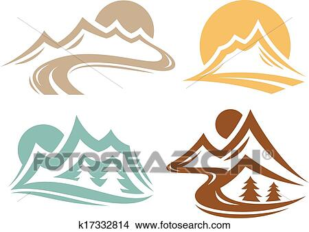 clipart of mountain range symbols k17332814 search clip art rh fotosearch com rocky mountain range clipart mountain range clipart black and white