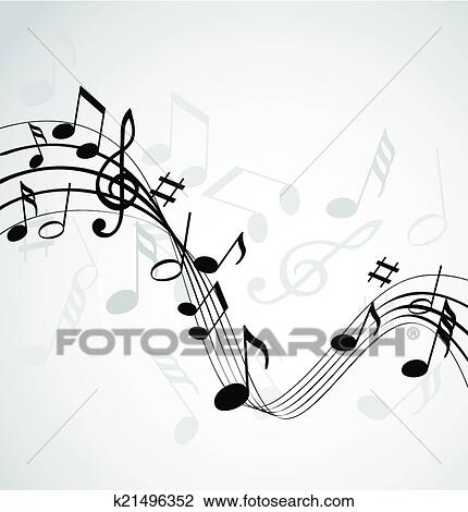 Clipart Of Music Notes K21496352 Search Clip Art Illustration