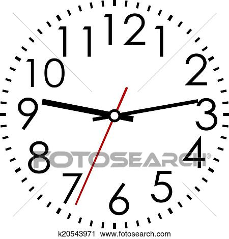 clipart of round clock face with arabic numerals k20543971 search rh fotosearch com clock face clipart black and white clock face clipart black and white