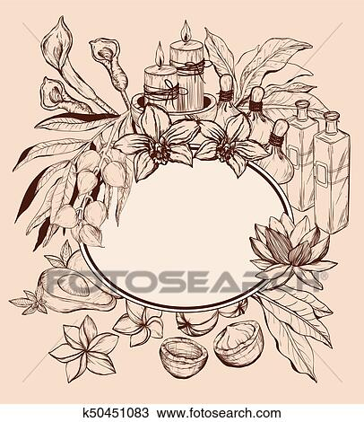 Spa Candles Clipart