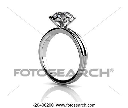 ダイヤモンド指輪 白 背景 で 高く 品質 クリップアート切り