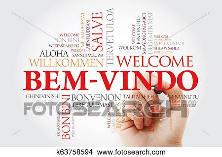 Bem Vindo Welcome In Portuguese Word Cloud Picture K63758594 Fotosearch