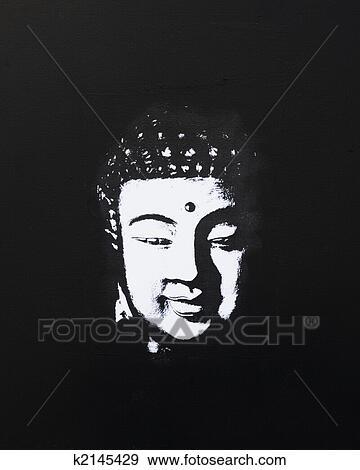 buddha gem lde schwarz wei stock fotograf k2145429. Black Bedroom Furniture Sets. Home Design Ideas