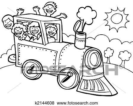 Blue Train Clip Art