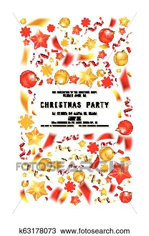 Christmas Party Or Dinner Invitation Clipart K63178073