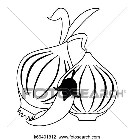Slice Of Sweet Onion Icon Outline Stock Vector - Illustration of cooking,  fresh: 91907082