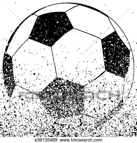 Schwarz Weiss Fussball Ball Clip Art K38135489 Fotosearch