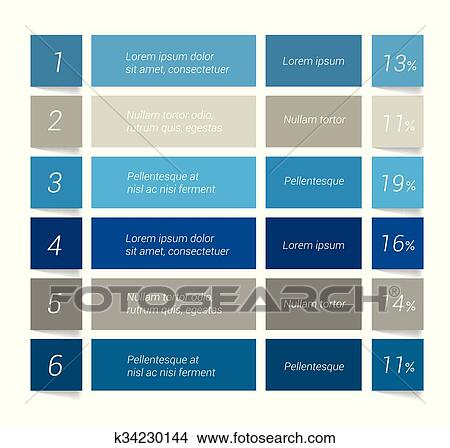 Table Chart Schedule Infographics Elements Clipart K34230144
