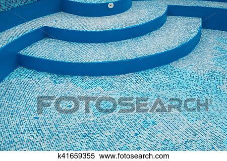 Tiled pool Stock Photography